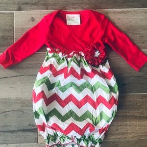 Stunning Christmas baby gown